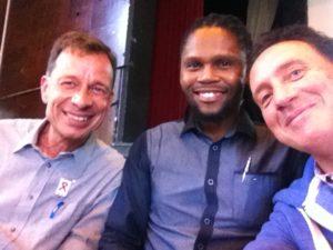Lutz van Dijk und Sonwabiso Ngcowa