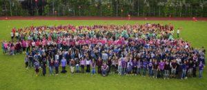 Schüler in Regenbogenfarben