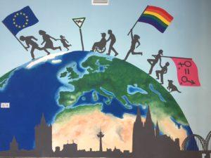 Wandbild mit Erde